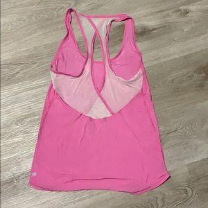 lululemon lightweight pink tank top